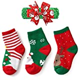 YEAPOOK Unisex Baby Toddler Girls Boys Christmas Socks Thicken Warm Xmas Socks for Babies Boys 3 Pairs M(4-6 years)