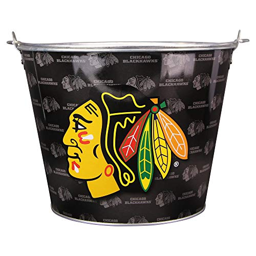 NHL Full Color Team Logo Aluminum Beer and Ice Bucket (Chicago Blackhawks)