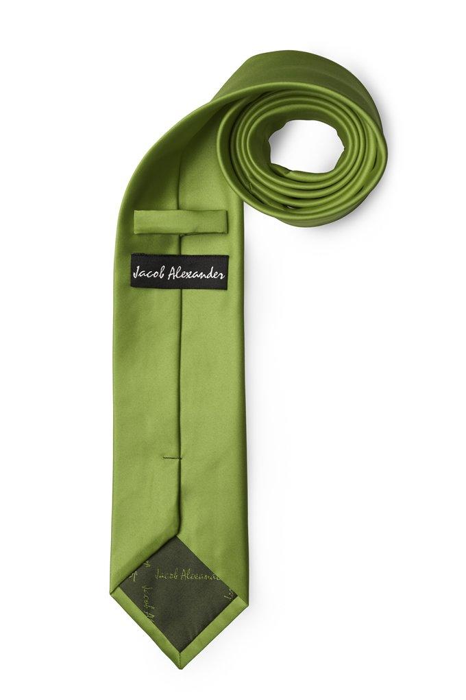 Jacob Alexander Solid Color Mens Regular Tie Green Olive