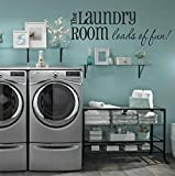 """pictures of laundry rooms Laundry Room Wall Decals - Loads of Fun 40"""" W X 14"""" H - Choose From Over 21 Color Choices!! Laundry Room Wall Decor,U34 PLUS FREE 12"""" WHITE HELLO DOOR DECAL"""