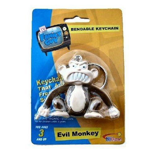 Family Guy Keychain (Evil Monkey keychain - Family Guy Bendable Figure keychain)
