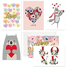 VALENTINES CARDS, LOVE CARDS - PACK OF 36 CARDS