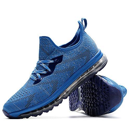 2017 Nuove Scarpe Sportive Da Uomo Scarpe Da Corsa Scarpe Da Corsa Tendenza Scarpe Leggere Scarpe Casual Traspiranti Cielo Blu
