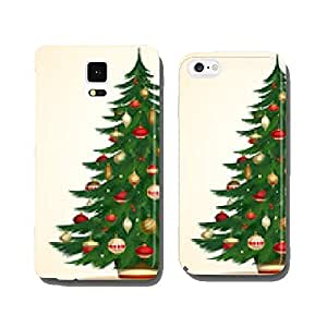 Christmas tree card. Vector illustration cell phone cover case Samsung S5