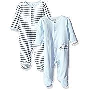 Little Me Baby 2 Pack Footies, Blue Stripe, 6 Month