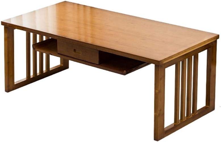 Verhandelbaar Jixi Moderne salontafel van bamboe, met multifunctioneel vak, voor woonkamer, theetafel, slaapkamer, bijzettafel, woonkamertafel Theekleur VakxZ1b