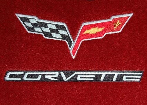 Corvette C6 Coupe & Convertible Red Floor Mats 2005 2006 and 2007