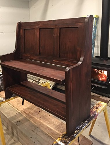 Shaker Style Hallway Bench With Built In Shoe Shelf