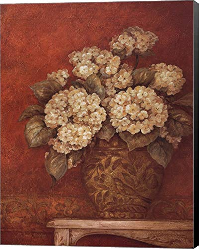 Gladding Villa - Villa Flora Hydrangeas by Pamela Gladding Canvas Art Wall Picture, Museum Wrapped with Black Sides, 22 x 28 inches