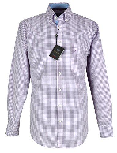 Fynch Hatton Herren Freizeit-Hemd Violett Biberry