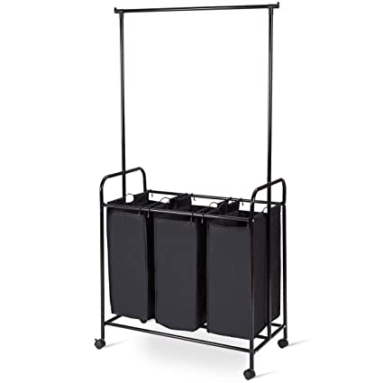 Amazoncom Sharewin 3 Bag Rolling Laundry Hamper Sorter Cart With