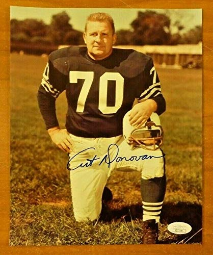 Art Donovan Football HOF Autographed Signed 8x10 Photo With Memorabilia JSA