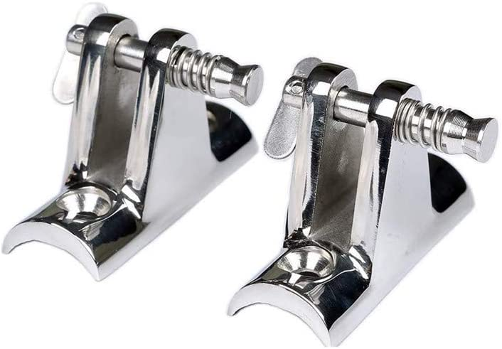 YUDONG 2 Pack Marine Boat Hinge Mount,Deck Hinge with Removable Pin,316 Stainless Steel Marine Boat Hinge Mount Bimini Top Fitting Hardware