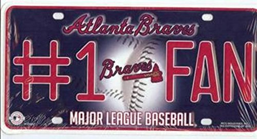MLB Atlanta Braves #1 Fan Metal Tag