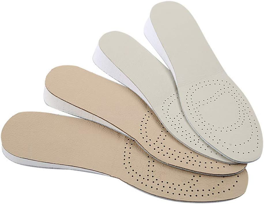 SUPVOX 1 par de plantillas de cuero que aumentan la altura c/ómodas zapatillas elevadoras elevadoras inserta coj/ín para mujeres hombres 35//36