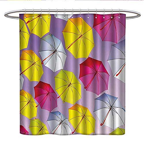 Alabama Sunshade (Apartment Decorfabric Shower curtainCircular Round Formed Romantic Color Umbrella Sunshades on Air Motivation PhotoPleated Shower curtainMulti)