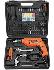 Black & Decker HD555KMPR-XD 550W Home Starter Drill, 100-Piece Tool & ACC Set