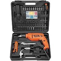 Black & Decker HD555KMPR-XD 550W Home Starter Drill, 100-Piece Tool & ACC Set