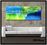 XL Modern Abstract Painting 60 x 24 x 1.5 - Ready to Hang, Limited Edition, Hand Embellished, and Textured. FLOAT - ELOISExxx
