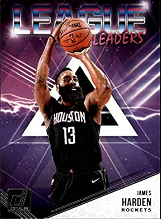 1f462ac7d 2018-19 Donruss League Leaders  6 James Harden Houston Rockets NBA  Basketball Trading Card