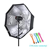 """Godox 47""""/120cm Umbrella Octagon Softbox Reflector with Carrying Bag for Portrait or Product Photography +SUPON USB LED free gift (120cm)"""
