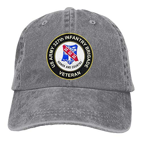 KERLANDER US Army 327th Infantry Brigade Veteran Adjustable Washed Twill Baseball Cap Dad Hat