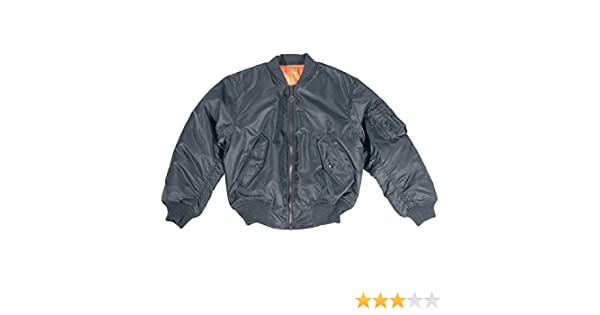 8aa9bf7ab82 Mil-Tec MA-1 Flight Jacket Navy at Amazon Men s Clothing store