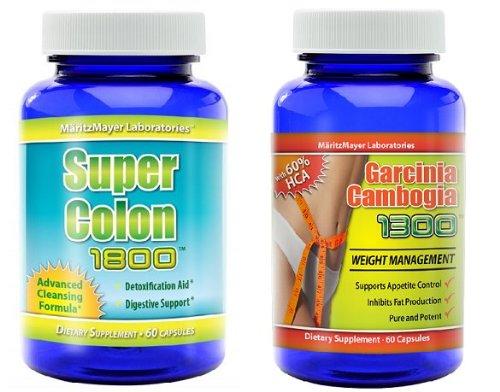 Garcinia Cambogia Extrait 1000mg. & Colon Cleanse 1800 Perte de poids