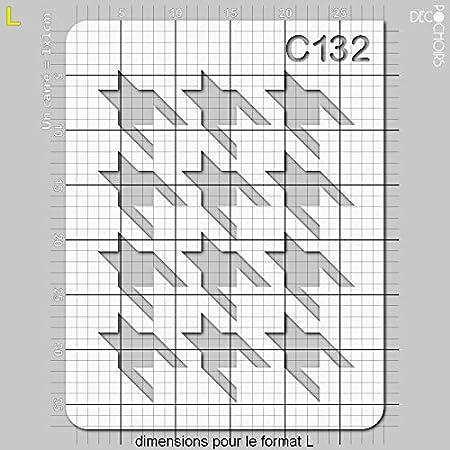 Pochoir Pied de Poule Taille XS Feuille 94x121 mm