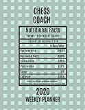 Chess Coach Nutritional Facts Weekly Planner