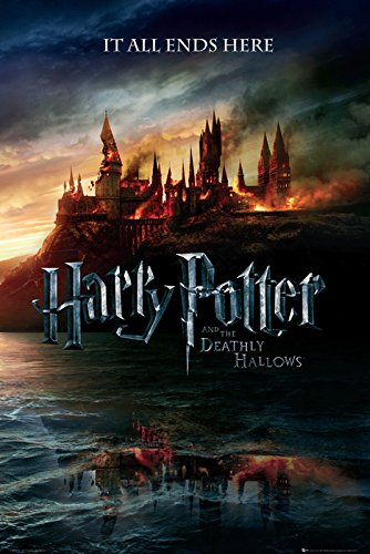 Click for larger image of Harry Potter And The Deathly Hallows - Movie Poster (Advance Style - Hogwarts On Fire) (Size: 24' x 36') (By POSTER STOP ONLINE)