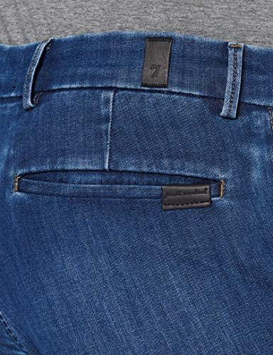 7 For All Mankind Slimmy Chino Jeans, Bleu Moyen, W38 Homme