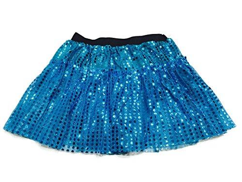 Disney Marathon Running Costumes (Rush Dance Sparkle Sequin Running Skirt Race Costume Glitter Ballet Tutu 5K (S/M, Turquoise))