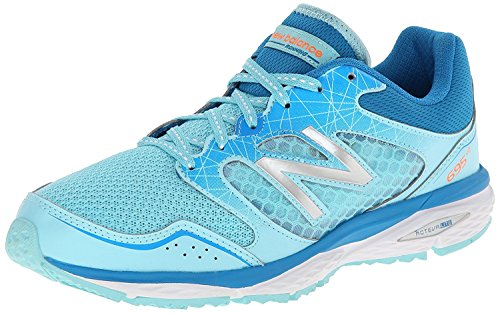 New Balance Womens W695V2 Running Shoe, Azul/Plateado, 36.5 B(M) EU/4 B(M) UK