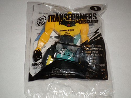 2015 McDonald's Happy Meal Bumblebee Transformers Robots in Disguise Toy #1 Boy Kids' Meal Action Figure