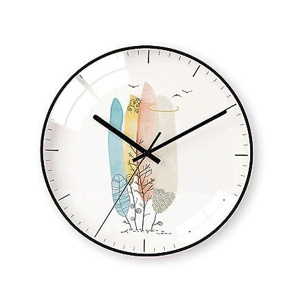 Relojes de pared Reloj de Arte Chino Moda Reloj de Tendencia Mudo Dormitorio Creativo Reloj de