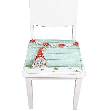 Amazon.com: Cojín para silla de Navidad, cómodo, de algodón ...
