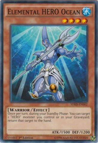 Yu-Gi-Oh! - Elemental HERO Ocean (SDHS-EN002) - Structure Deck: HERO Strike - 1st Edition - Common