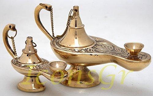 2 x Orthodox Greek Christian Bronze Votive Vigil Oil Lamp - 373 Set