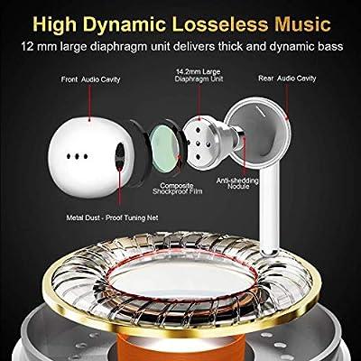 Fance Wireless Earbuds,Bluetooth Earburds Stereo, Wireless Earphones with Mic Mini in-Ear Earbuds Earphones Earpiece Sweatproof Sports Earbuds with Charging Case