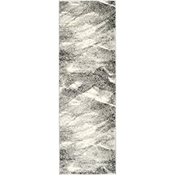 Safavieh Retro Collection RET2891-8012 Modern Abstract Grey and Ivory Runner (2\'3\
