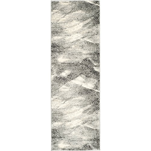 ction RET2891-8012 Modern Abstract Grey and Ivory Runner (2'3