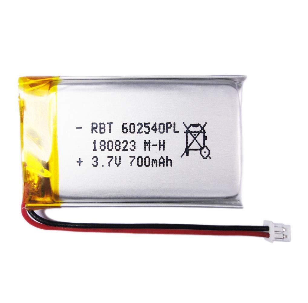 BrightTea® 3.7V 700mAh Battery Lithium Ion Polymer Battery Rechargeable Battery Li-ion Li-Po