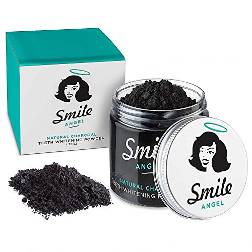 Activated Charcoal Teeth Whitener Tooth and Gum Powder by Smile Angel. An All Natural Safe Whitening Alternative to Toothpaste. (Myrrh Root Extract Powder compare prices)