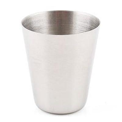 1x Mignon Argent 30ml extérieur Tasse de voyage en acier inoxydable vin bière Whisky Cups