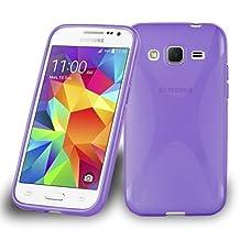 Cadorabo – Silicone Case X-LINE SLIM-FLEX for Samsung Galaxy CORE PREMIUM – Etui Cover Protection Bumper Skin in PASTEL-PURPLE