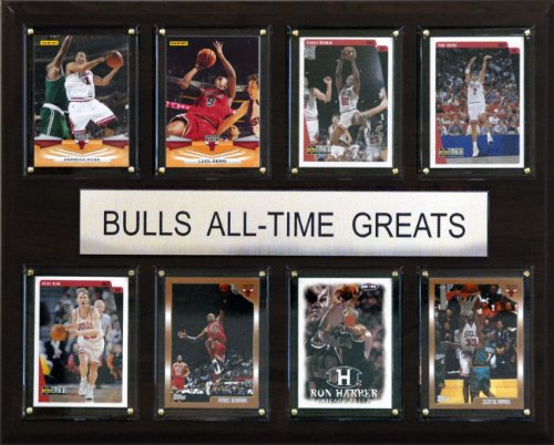 NBA Chicago Bulls All-Time Greats Plaque (Chicago Bulls Room Decor)