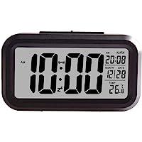 Creative Smart Nightlight Digital Alarm Clock,ShowTop Bedside Desk Table Electronic Clock Battery Operated Mute Luminous…