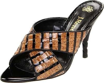 J.Renee Women's Loreta Slide Sandal,Natural/Black,8 N US