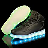 FLARUT Kids High Top LED Shoes Light Up USB